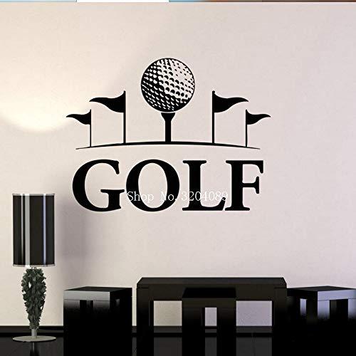 Golfclub Art Mural Engels Sport Muurstickers Woondecoratie Woonkamer Slaapkamer Hobby Vinyl Decal Zelfklevende geschenken 112x84cm
