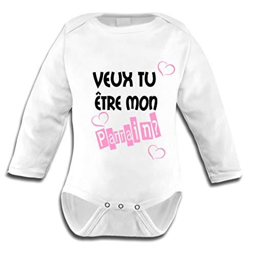 Les lutins de Camille-Body bébé Fille, Veux tu être Mon Parrain? (0-3 Mois)