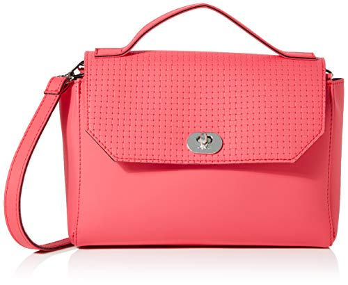 O bag Borsa Soft Smooth, Pochette da Giorno Donna, Rosa (Amaranto), 27x25x9 cm (W x H x L)