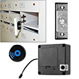 Seguridad Instalación flexible Antirrobo Cómodo cerradura de cajón Cerradura de tarjeta Cerradura de inducción sin llave sin perforaciones Cerradura de gabinete para el hogar para la oficina