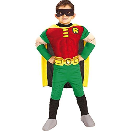 NET TOYS Batman Kinder Muskel Kostüm Robin Größe L - 140