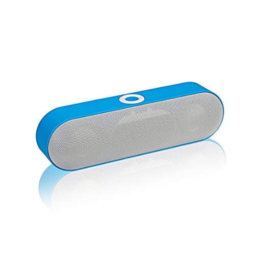Sdesign Mini Bluetooth Speaker,Subwoofer Wireless Bluetooth Speaker Outdoor Mini Pill-Shaped Car Speaker,Built-in High-Definition Noise-Reduction Microphone,Support Two-Way Voice Call (Color : Blue)