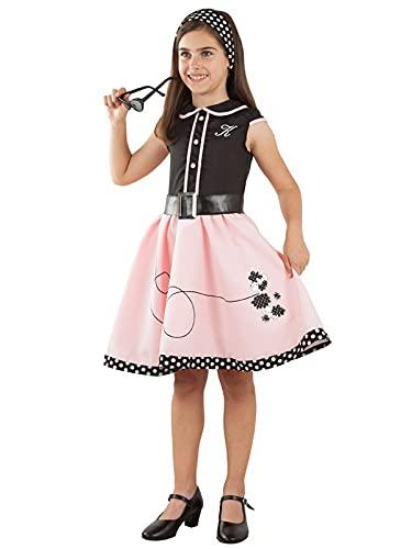DISBACANAL Disfraz Vestido años 50 para niña - -, 8 años