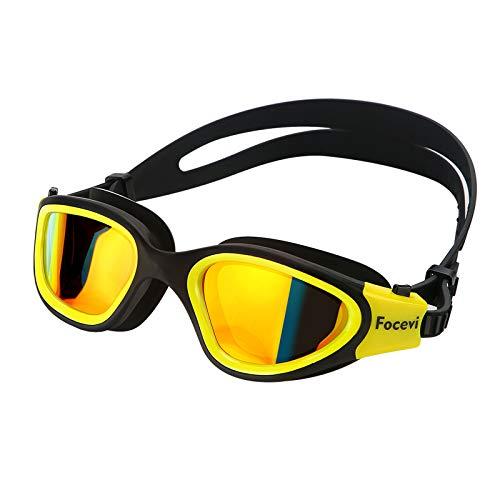Anti-Beschlag Blendschutz UV-beständig Polarisiert schwimmbrille testsieger für herren/damen/männer/erwachsene/Jugendliche,groß klar profi verspiegelt schwimmbrillen Brille schwimmbrillenband etui