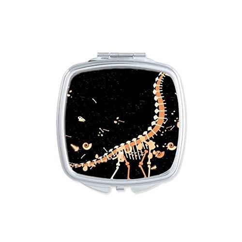 DIYthinker dinosaurus gras enorme botten vierkante compacte make-up spiegel draagbare schattige hand zak spiegels cadeau