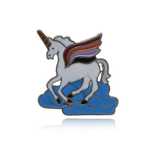 null KARAT by schmuckrausch Anstecker Pin Einhorn Unicorn