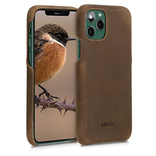 kalibri Custodia in Pelle Compatibile con Apple iPhone 11 PRO - Back Cover Protettiva Case Posteriore