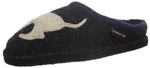 Haflinger Unisex-Erwachsene Flair Dackel Pantoffeln, Blau (Kapitän 79), 39 EU