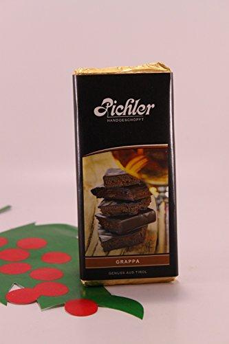 Zartbitterschokolade mit Grappa-Creme 53% Kakao 100 gr. - Pichler Schokoladen handgeschöpft Osttirol