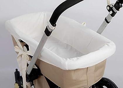 Babyline FUCABE - Funda Capazo Hipoalergénica Y Suave. Transpirable. Cubrecuco. Funda Capazo Interior. 100% Fabricación Española (Beige Piqué), Color Beige, 90 x 40 cm
