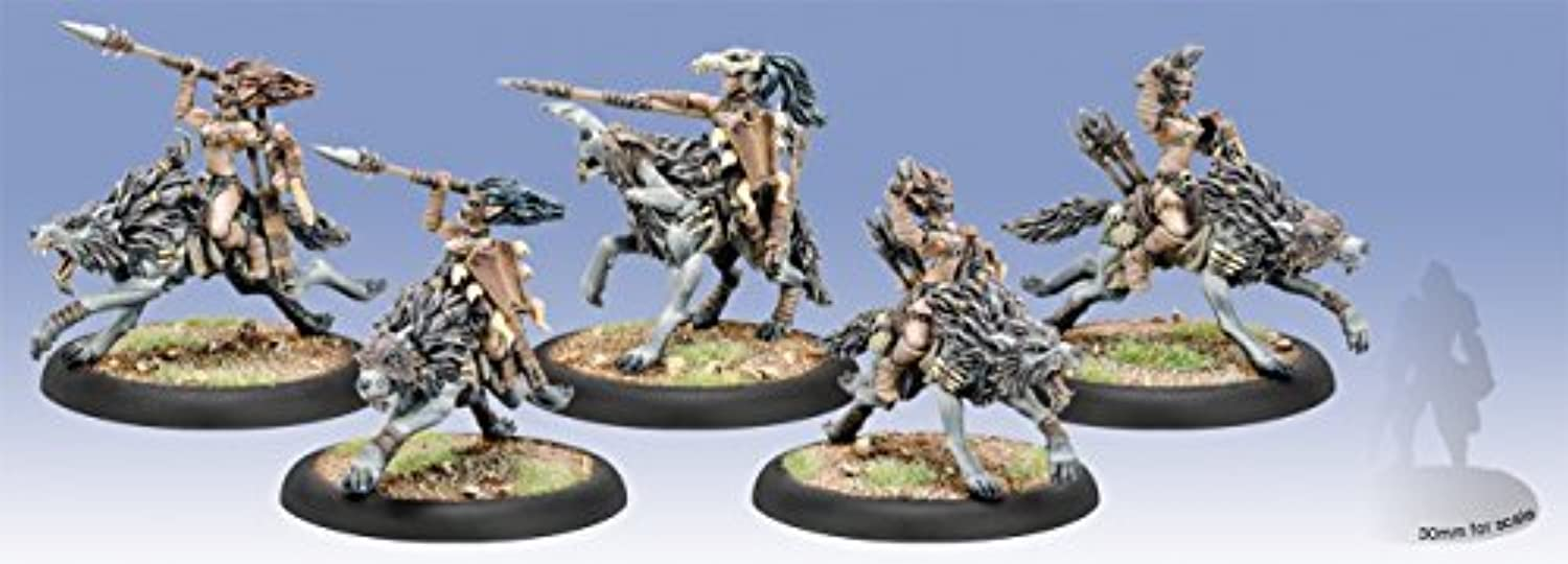 Circle OrbGolds  Tharn Wolf Riders Light Cavalry Unit Box by Privateer Press Miniatures