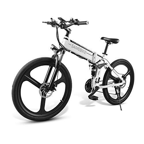 Elektrische fiets, MTB, inklapbaar, 48 V, elektrische fiets, opvouwbaar, voor volwassenen, met 350 W tot 35 km/h, elektrische fiets