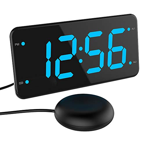 Vibrating Alarm Clock for Heavy Sleepers, Deaf and Hard of Hearing