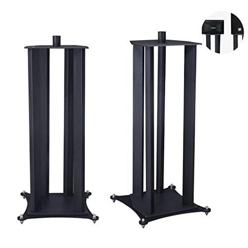 Lautsprecherständer Home Theater Standby Studio-Lautsprecher Paar Lautsprecher Ständer Monitor Speaker Wandstativ montieren (Color : Black, Size : 37 * 39 * 88cm)