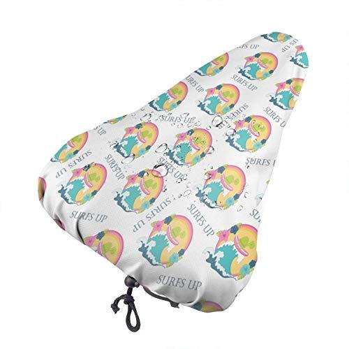 Bong6o Cute Sea Turtle - Funda para asiento de bicicleta unisex extra suave y duradera, resistente al agua