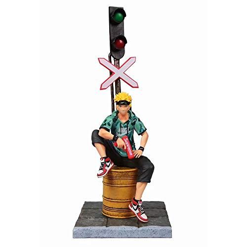 SFRIDQ Naruto Anime Street Fashion Brand Fashion Trend Naruto Estatua Estatuilla Modelo Muñeca Escultura Juguete Decoración Altura 31cm