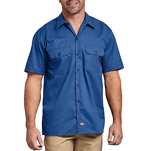 Dickies - 1574 à manches courtes Chemise de travail, X-Large, Royal Blue
