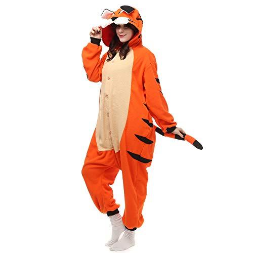 Cosplay Pyjamas Bekleidung Animal Erwachsene Unisex Schlafanzüge Karneval Onesies Jumpsuits Anime Carnival Bengalische Tiger Spielanzug Kostüme Weihnachten Halloween Nachtwäsche Mädchen