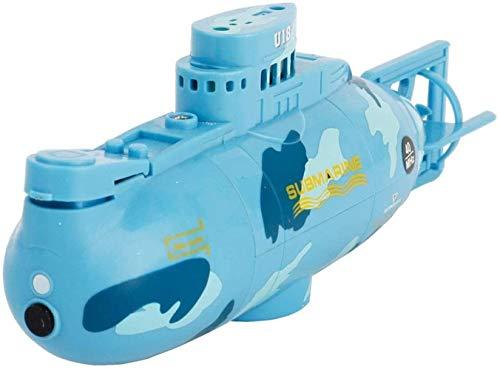 Boot Ferngesteuert,Mini-Fernbedienung U-Boot - Mini-Fernbedienung U-Boot 6CH High-Speed-U-Boot Radio Control Racing U-Boot Schiff Kinder Geschenk (Blau)