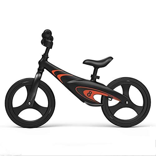 Kupper Telaio per bicicletta da 12' in carbonio e acciaio, senza pedali, per allenamento di pedalata assistita, per bambini e bambini da 2 a 6 anni, Old VibrantBlack(SpecialEdition)
