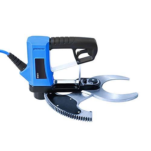 Levuyou Sécateur de Branche d'arbre Rechargeable avec Batterie, sécateurs électriques, diamètre de Coupe: 80 mm (3,15 Pouces) / Bleu