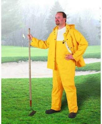Onguard Sitex Yellow Jacket W/Detachable Hood, PVC, S (Pack of 5)