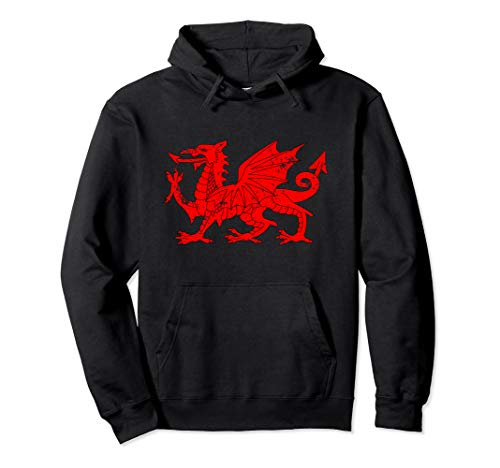 Big Red Dragon Wales Flag Pullover Hoodie