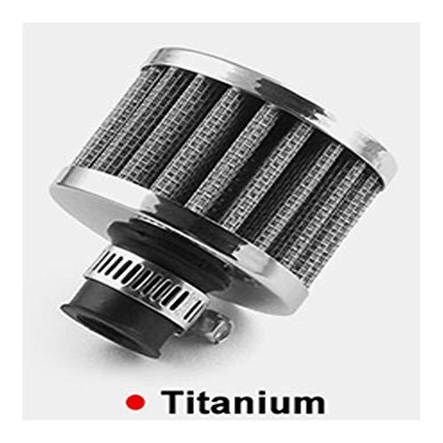 Filtro de aire Filtro de aire de 38 mm Interfaz universal de la motocicleta de aire de 12 mm Diámetro del filtro de aire del coche de la turbina de escape Filtro de ventilación del cárter Filtro de ca