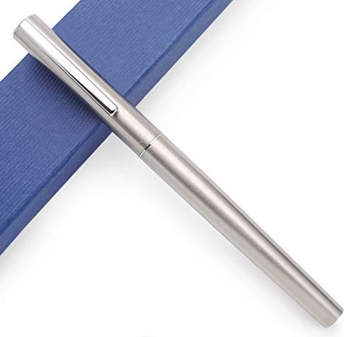 JINHAO 35 - Penna stilografica in metallo, corpo in acciaio, pennino sottile 0,5 mm