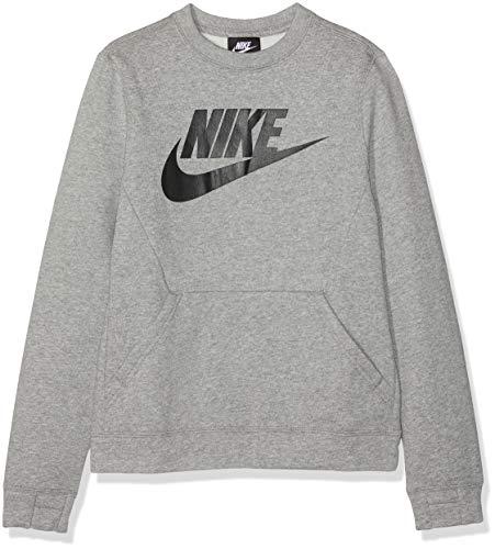NIKE Sportswear Club Fleece S Sudadera, Niños, Gris Oscuro Jaspeado/Negro, S (128-137 cm)