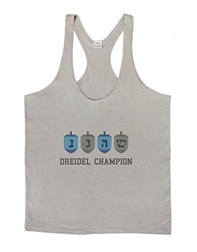 Dreidel Champion Hanukkah Mens String Tank Top - Light Gray - Large