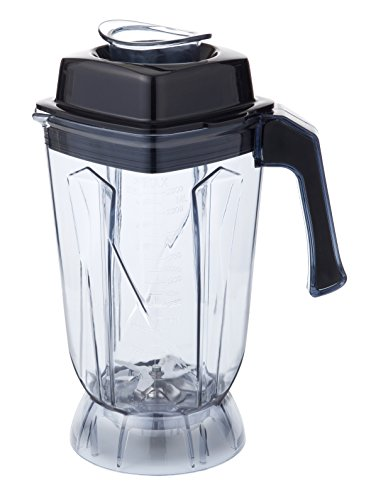 HENDI Kanne, für HENDI Standmixer 230718-230695-230688, Komplettset Messer-Kanne-Deckel, aus Tritan Copolyester BPA Frei, Smoothie, Cocktails, Desserts, 200x170x(H)360mm