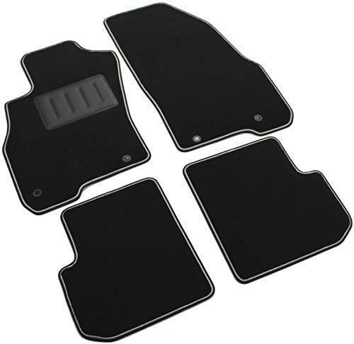 Il Tappeto Auto SPRINT00104 Autofußmatten aus Teppichstoff, schwarz, rutschfest, zweifarbiger Rand, Absatzschoner aus Gummi, für Punto Evo und Mito