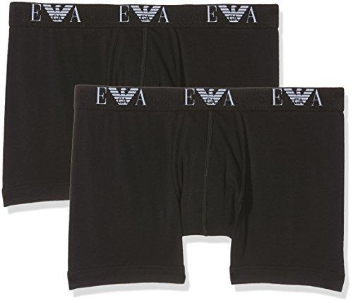 Emporio Armani Underwear Herren 111284CC715 Boxershorts, Schwarz (Nero/Nero 07320), Large (2er Pack)