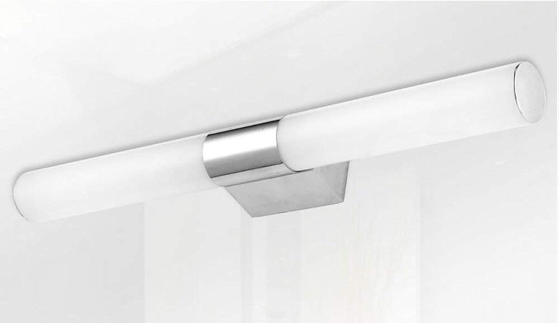 Minimalistischen Modernen Edelstahl Led-Spiegel Leuchten Schlafzimmer Badezimmer Helles Badezimmer Spiegelschrank Licht Make-Up Wandleuchten (Farbe  Warm-46 Cm)