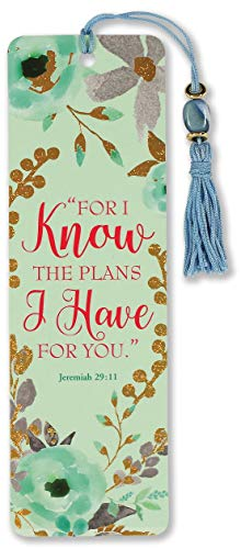 For I Know the Plans I Have for You Beaded Bookmark