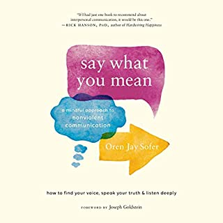 Say What You Mean     A Mindful Approach to Nonviolent Communication              Written by:                                                                                                                                 Oren Jay Sofer,                                                                                        Joseph Goldstein                               Narrated by:                                                                                                                                 Oren Jay Sofer,                                                                                        Mark Bramhall                      Length: 11 hrs     1 rating     Overall 5.0