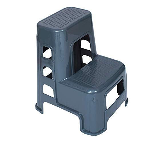 HTL Simple práctico pequeña Deposición de alta moda y el banco de ducha de bajo taburete de plástico Paso taburete escalera de múltiples funciones del hogar,gris,45 * 52 * 60cm