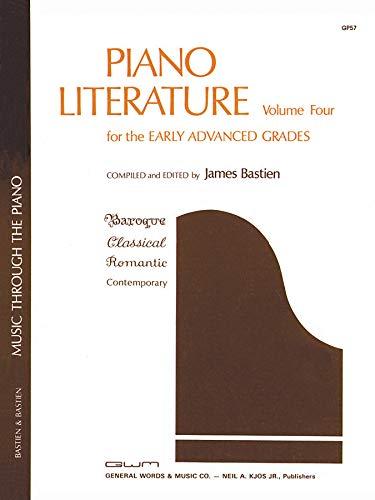 Piano Literature Volume 4 (The Bastien Piano Library)