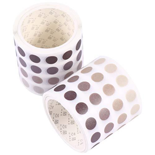 EXCEART Cinta Washi Cinta de Enmascarar Bobina Notas Adhesivas Planificador Pegatina Dispensador de Cinta Washi Banda de Papel Adhesivo 2 Piezas (Marrón Claro)