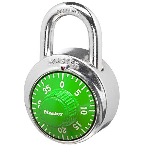 Cadeado com combinação de mostrador Master Lock 1505D. 9 unidades. cores sortidas