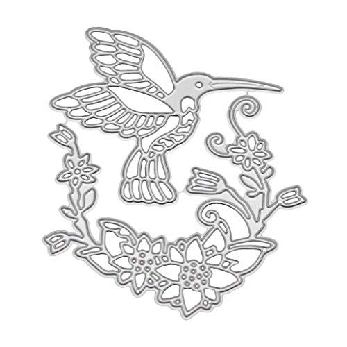 YoungerY (1 Satz DIY geprägtes Stanzen sterben Clip Art Album Stempel geprägt Handwerk Dekoration - Vögel und Blumen