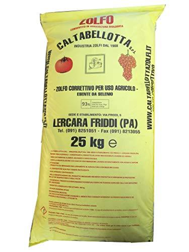 ZOLFO CORRETTIVO 93 Giallo Uso AGRICOLO Verdura Agricoltura Biologico kg. 25
