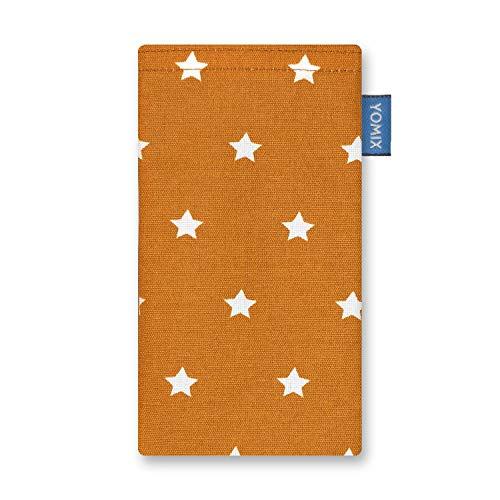 YOMIX Stella Handytasche Tasche für Alcatel Idol 4 aus beschichteter Baumwolle mit Microfaserinnenfutter | Hülle mit Reinigungsfunktion | Made in Germany