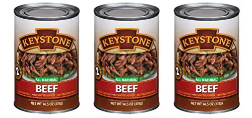 Keystone Meats All Natural Canned Beef, Ground, 14 Ounce (Pack of 3)