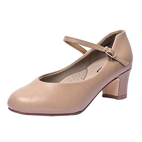 """STELLE 2"""" Character Dance Shoes for Women Big Kid (8MW, Tan)"""