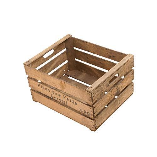 Die Stadtgärtner - Rustikale Obstkiste (Apfelkiste) | Ideal als Pflanzkiste oder für DiY-Projekte | Maße: 49 x 39 x 29 cm | Gebraucht/Vintage