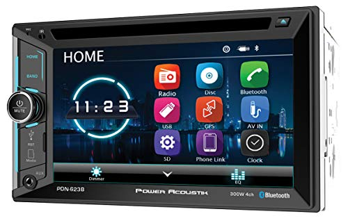 Power Acoustik PDN-623B Double DIN with 6.2-inch LCD, DVD, CD/MP3 Car Stereo with Bluetooth and GPS Navigation