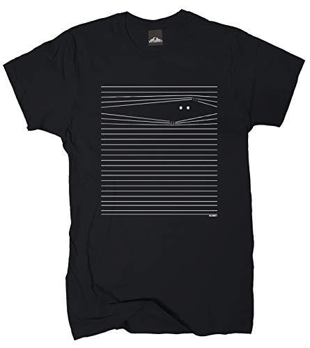 Wolkenbruch Herren T-Shirt Augen auf - Überwachung Gr.S-XXXXXL, Schwarz, XL