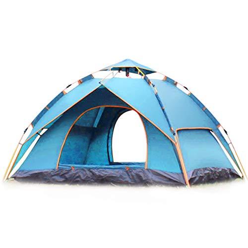 Wsaman 2-3 Personas Tienda de Campaña Portátil, Pop Up Tienda Instantánea Carpa de Refugio de Sol Protección UV, Fácil Montaje para Senderismo Playa Picnic Rain Tarp Beach Tent,Azul